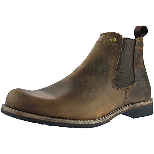 Woodland Gusset Chelsea Mens Boots Brown