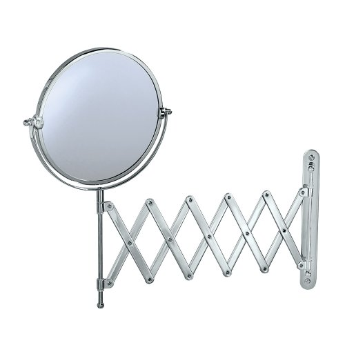 accordion wall mirror chrome