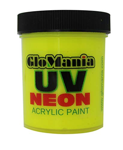 Chartreuse UV Black Light 2oz, Neon, Rave, Fluorescent, Acrylic Paint -
