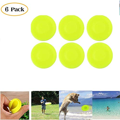 HAAC Frisbee Chip Spin On The Game of Catch Mini Pocket Flexible Soft New Spin in Catching Game Flying Disc (6 PCS)