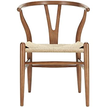 Amazoncom LexMod C24 Wishbone Chair in Walnut Chairs
