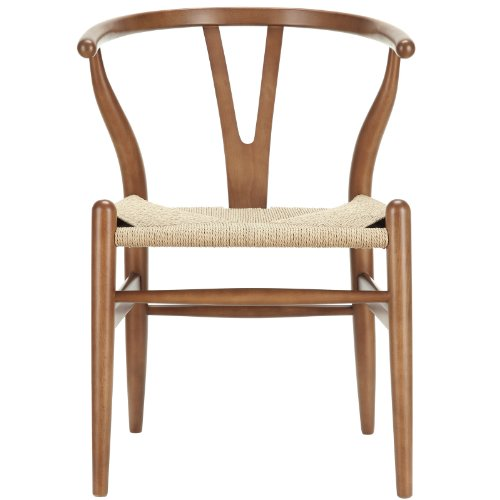 Modway Amish Mid-Century Dining Armchair in Walnut (22 Wishbone)