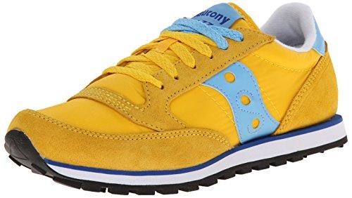 Saucony Originals Women's Jazz Low Pro W Sneaker , Yellow/Light Blue, 8 M US