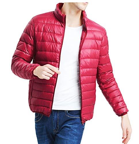 Uomini Leggero Puffer Collare Vino Ultra Cappotti Casuale Basamento Della Del Sicurezza Peso Rosso Piumino Pdq6drwB