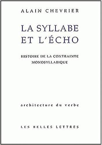 Mots et échos (French Edition)