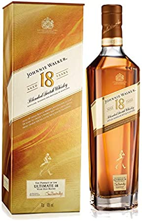 Johnnie Walker Aged - Set de 18 años con Vidrio tumblado, Whisky Blended Whisky, Alcohol, Botella de 40%, 700 ml