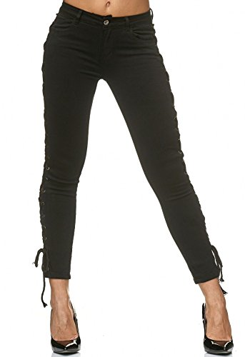 Jeans Up Noir ArizonaShopping Pantalon D2231 Lacis Stretch Lace Jeans Femme 4wXqazxXdR