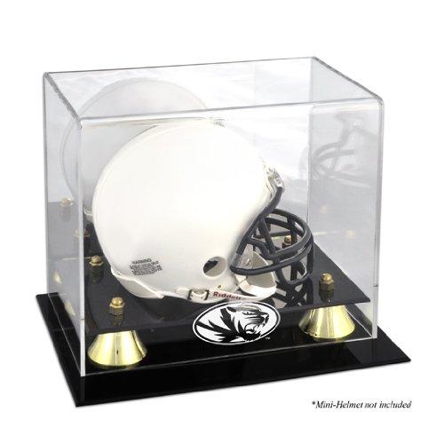 Missouri Tigers Logo Mini Helmet Display Case | Details: Golden Classic, Mirror Back