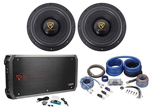 """Rockville W10K9D4 10"""" 6400 Watt Car Subwoofers+Mono Amplifi"""