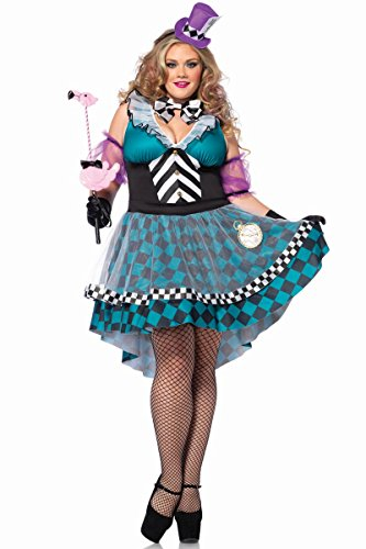 Manic Mad Hatter Costume - Plus Size 3X/4X - Dress Size 22-26
