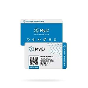 ENDEVR MyID Wallet Card with Online Medical ID Profile, Medical ID, Sport ID, Child ID, Emergency ID