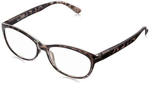 Foster Grant Women's Brielle 1017899-100.COM Cateye Reading Glasses, Crystal with Metallic Gun, 1