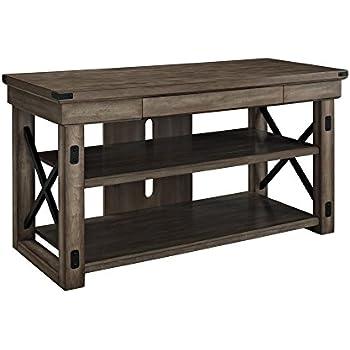 Amazon Altra Wildwood Wood Veneer  TV Stand Rustic Gray