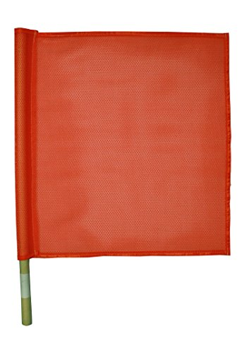 CH Hanson Red Nylon Traffic Flag with handle by CH Hanson