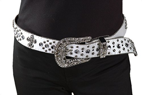 Rhinestone Cowboy Belt (Isabella's Journey Belt It Out Studded Rhinestone Belt S/M Fits 30-36