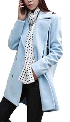 Long amp;W M Parka Korean Lapel Women's Jackets Woolen amp;S 1 Collar qxTAxSw0