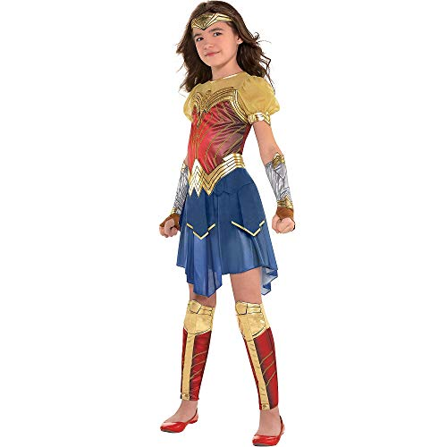 Suit Yourself Wonder Woman Movie Halloween Costume for Girls, Medium, Includes Accessories -
