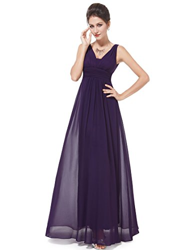 HE08110PP14 Purple 12US Ever Pretty Evening Dresses Long Formal 08110
