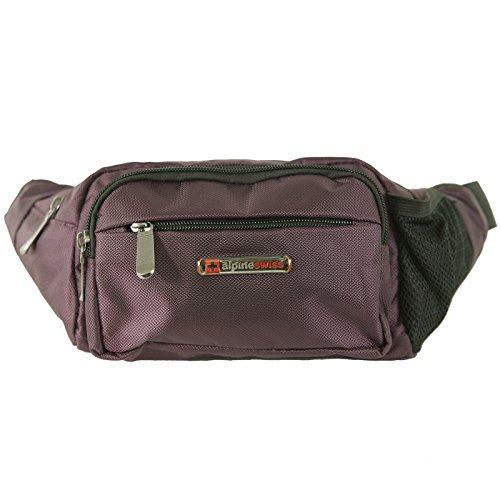 Alpine Swiss Fanny Pack Travel Case Adjustable Belt Sport Pouch Waist Bag Purple - Men Pouch