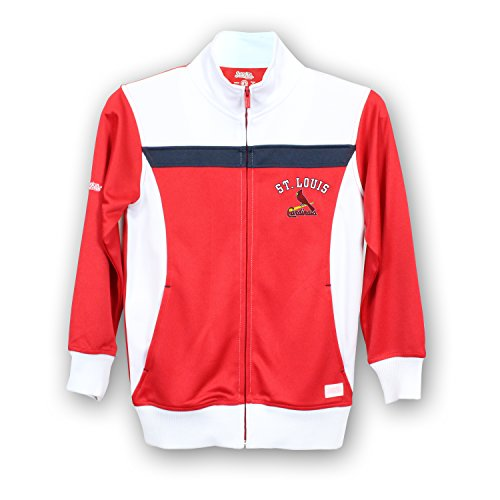 St Louis Cardinals Jackets (MLB St. Louis Cardinals Girls Fashion Track Jacket, Large, Red/White)