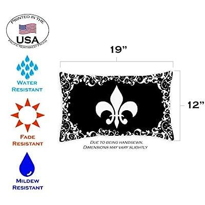 Toland Home Garden 771230 Fleur De-lis 12 x 19 Inch Indoor/Outdoor, Pillow Case (2-Pack) : Garden & Outdoor