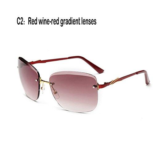 Gafas de 927C3 Fuzzy TL sol mujer 927C2 Lentes Gafas sin UV400 reborde de Sunglasses cristal 5wFwaq1