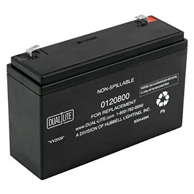 Dual Lite 0120800 Approved 6-volt 10-12Ah 5.5-Amp for 90-Minute New SLA Battery