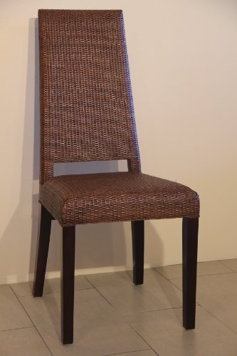 Ventura Handmade Rattan Wicker High Back Armless Dining Side Chair (High Back Rattan Chairs)