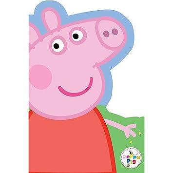 Amazon.com: Peppa Pig – Die Cut Tarjeta de cumpleaños ...