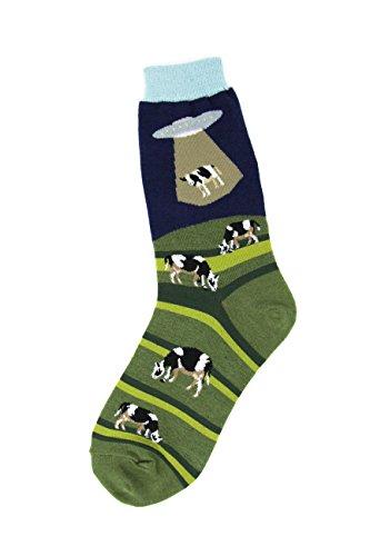 Foot Traffic Alien Abduction Women's Socks, One Size Fits Most, Alien Abduction