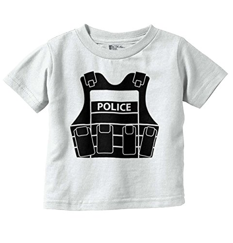 Brisco Brands Police Vest Funny Baby Clothes | Cute Newborn Gift Idea Law Toddler Infant T (Bulletproof Vest Police)