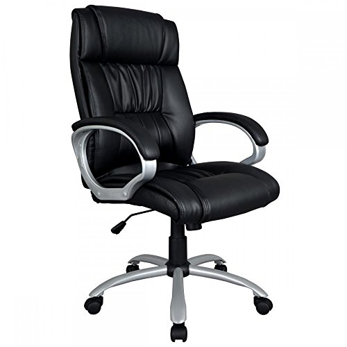 Modern High Back Leather Executive Office Desk Task Computer Chair w/Metal Base