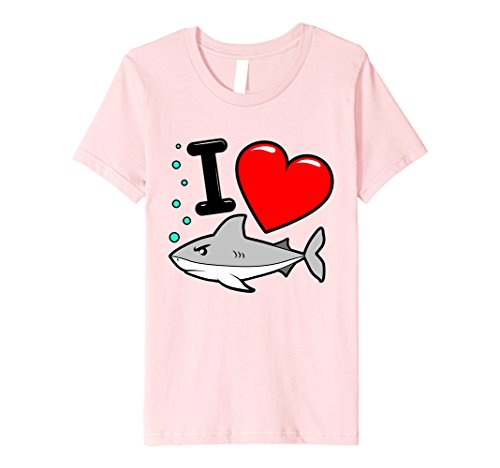unisex-child I Heart Sharks T Shirt for the Week, Premium Tee 6 - T-shirt Youth Shark