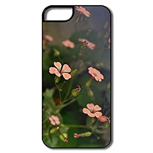 IPhone 5 Cases, Flower Shades Cover For IPhone 5 5S - White/black Hard Plastic