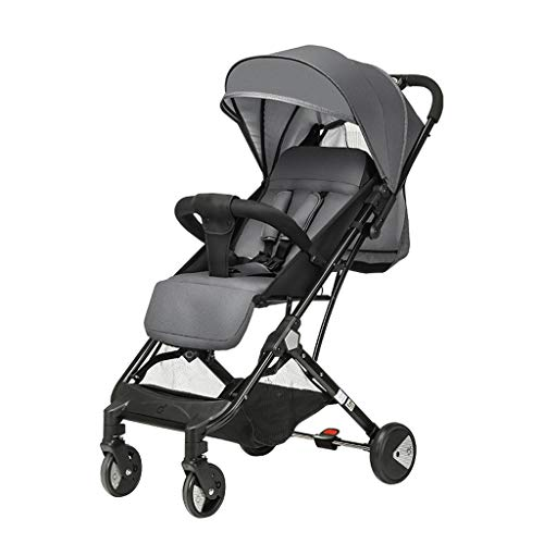 Strollers Baby Adjustable Height Baby Stroller High Landscape Strollers Buggies Light Easy Carry Foldable Children's Trolley Pushchairs Prams (Color : Gray, Size : 17.3216.5339.37inchs)
