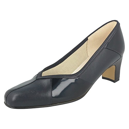 Ladies Fitting Simile Court Nil Shoes Colorado Narrow Navy w4nq1x