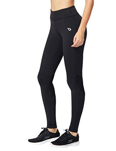 Baleaf Women's Workout Compression Tights Mesh Insert Leggings