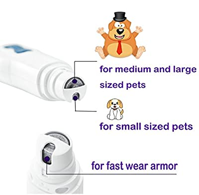 GDTK Pet Nail Grinder for Dogs Cats - Ideal for Trimming Pet Nails / Pet Grooming Kit