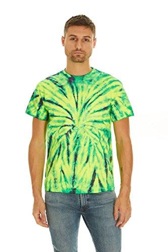 Spider Yellow T-shirt (Krazy Tees Tie Dye T-Shirt, Wild Spider, M)