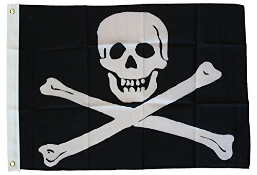 Jolly Roger - 3 ft x 5 ft Nylon Pirate ()