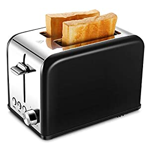 Toaster 2 Slice, Retro Small Toaster with Bagel, Cancel, Defrost Function, Extra Wide Slot Compact Stainless Steel Toasters for Bread Waffles, Aqua Blue