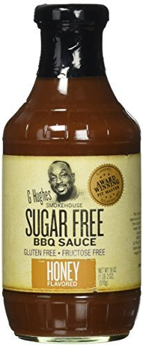 G Hughes Sauce Barbecue Sugar Free Honey, 18 oz