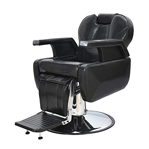 Real Relax Barber Shop Chair All Purpose Recline Swivel Heavy Duty Hydraulic Pump Beauty Salon Spa Tattoo Equipment Black