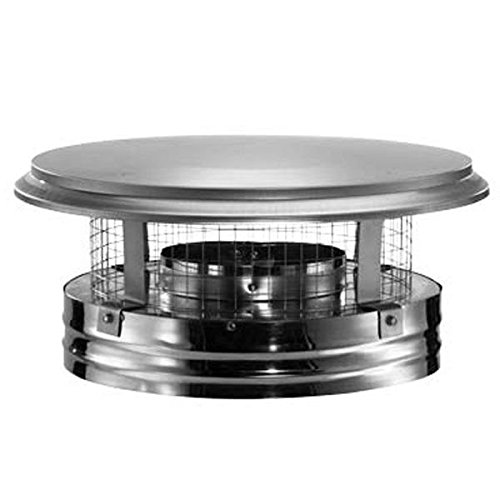 Duravent DuraPlus 8DP-VC Chimney Cap Stainless Steel; 8 Inch