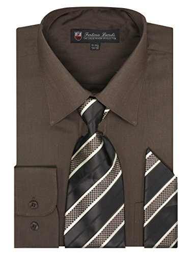 brown dress shirt and tie - 6