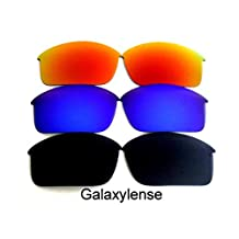 Galaxy Replacement Lenses For Oakley Bottle Rocket Black&Blue&Red Polarized ,FREE S&H