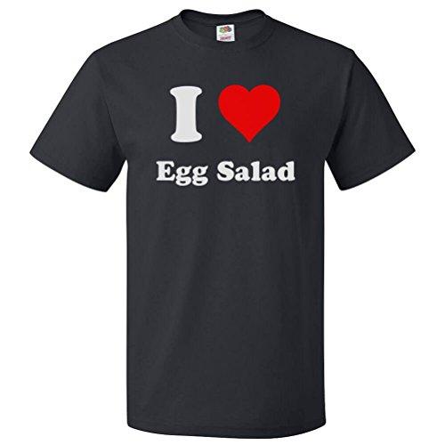 ShirtScope I Love Egg Salad T shirt I Heart Egg Salad