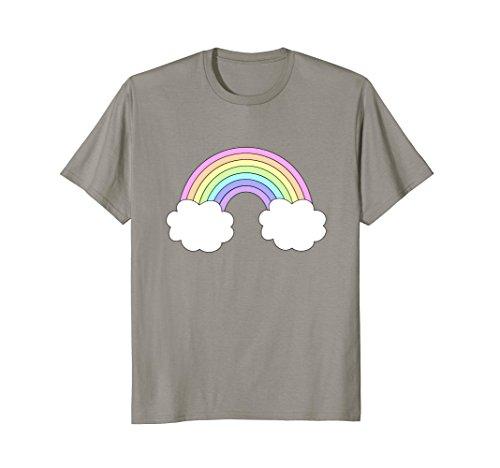(Pastel Colors Retro Rainbow t-shirt Cool 70's Vibe Designs)