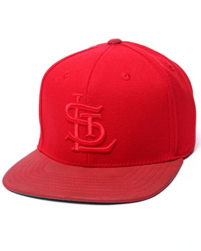 American Needle MLB Tonalism Leather Brim Strapback St Louis Cardinals Red