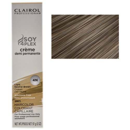 Clairol Professional Creme Demi Permanente 4N-LIGHT NEUTRAL BROWN (PACK OF 1)